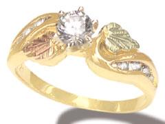 landstroms 13 carat engagement ring only - Black Hills Gold Wedding Rings